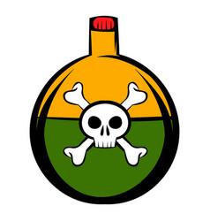 poison icon cartoon vector image vector image