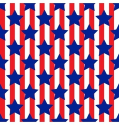 Seamless pattern with star patriotic usa vector image