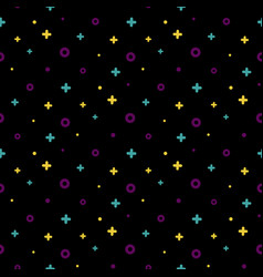 1980s style structured shape black memphis pattern vector image