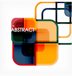 Abstract background square shapes geometric vector