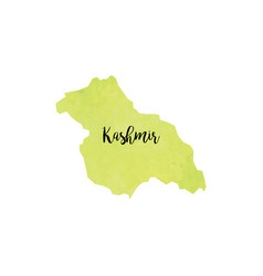 abstract kashmir map vector image