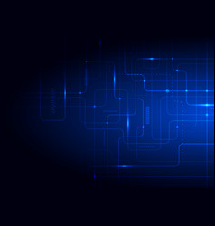 abstract technology futuristic concept glowing vector image