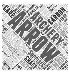 archery supplies Word Cloud Concept vector image