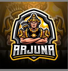 arjuna esport mascot logo vector image