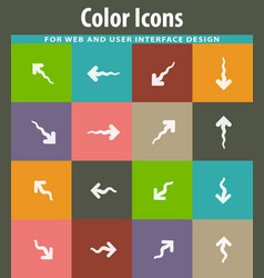 arrows icons set vector image