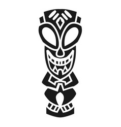 Aztec idol icon simple style vector