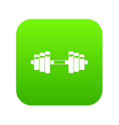 barbell icon digital green vector image