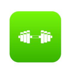 barbell icon digital green vector image