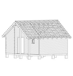bath house project vector image