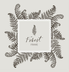 beautiful card with a square frame with wreath of vector image
