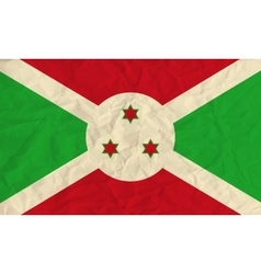 Burundi paper flag vector image