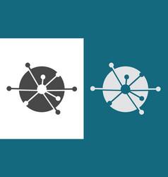 circle technology sience logo vector image