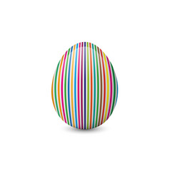 Colorful painted and decorated easter egg vector