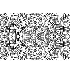 coloring page fantasy pattern with maze fantastic vector image