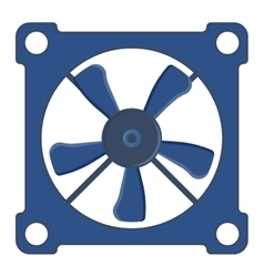 Computer cooler vector image
