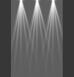 concert lighting stage spotlights set vector image