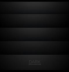 Dark minimal stripe background vector