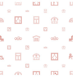 exterior icons pattern seamless white background vector image