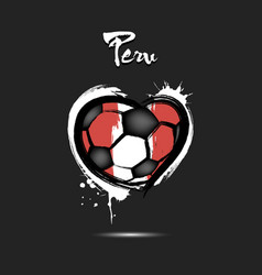 flag of peru in the form of a heart vector image