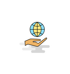 Flat safe world icon vector