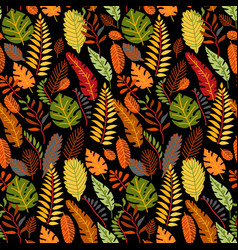 floral seamless pattern with a fallen leaves vector image