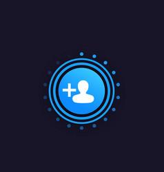 follow round button design vector image