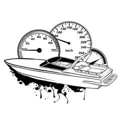Graphics speed boat race art vector