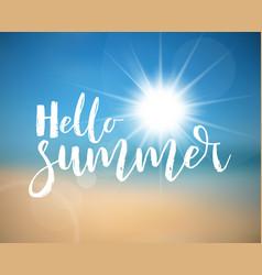 Hello summer - summer holiday poster vector