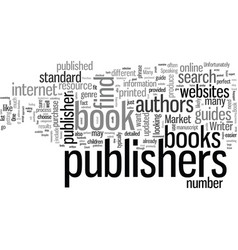 How to find book publishers vector
