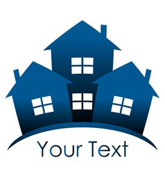 Icon - blue houses vector