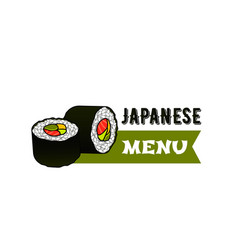 icon for japanese sushi restaurant menu vector image