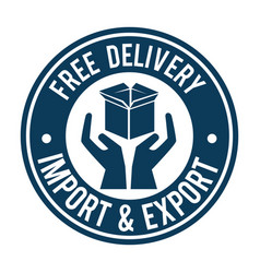 Import free shipping seal vector