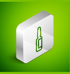 Isometric line toothache painkiller tablet icon vector