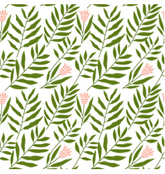jungle pattern with tropical leaves and vector image