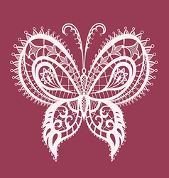 Lacy abstract butterfly vector