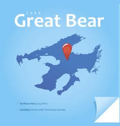 lake great bear vector image