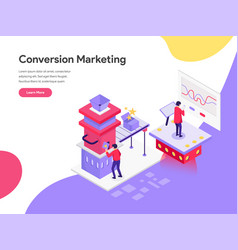 landing page template conversion marketing vector image