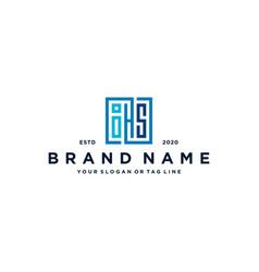 Letter ihs square logo design vector