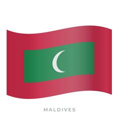 Maldives waving flag icon vector