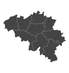 Map of Belgium with regions vector