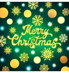 Merry Christmas lettering on Xmas background vector