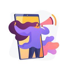 Mobile marketing smm concept metaphor vector