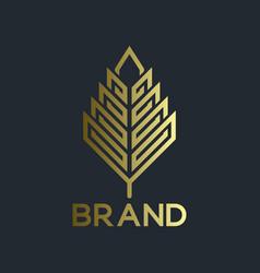 Modern real estate and logo leaf vector