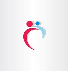 Mother and baicon design logo vector
