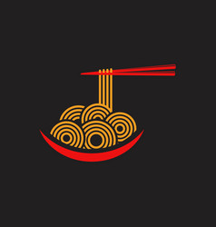 noodles food sign symbol vector image