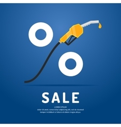 Poster advertising a Discount on fuel vector image