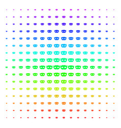 Privacy mask icon halftone spectrum effect vector
