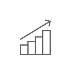Profits outline icon elements business line vector
