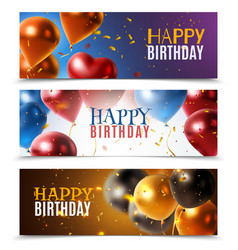 realistic glossy banners vector image