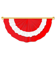 Red and white bunting vector
